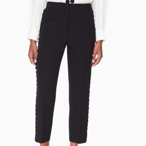 COPY - Kate Spade lace trim cigarette pant NWT
